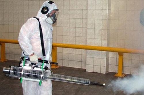 Уничтожение вирусов профессиональными дезинфекторами СЭС