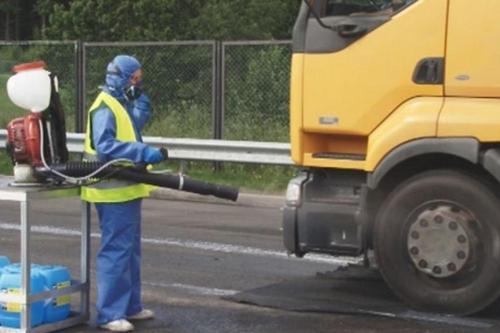 Дезинфекция грузового автомобиля