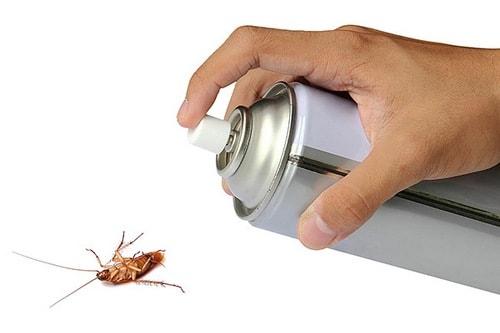 Травля тараканов аэрозолем